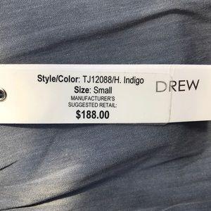 DREW Tops - DREW Blue Denim like Ruffled Sleeve Blouse 